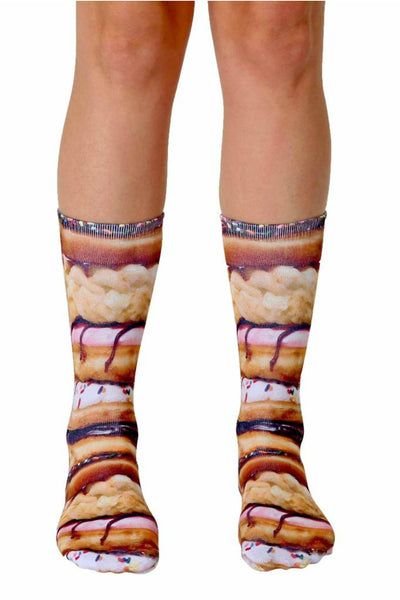 Stacked Donuts Crew Socks