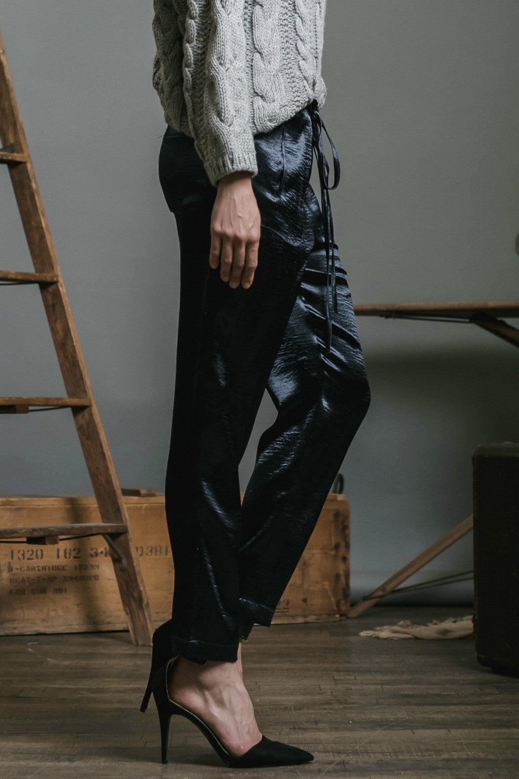Satin Woven Pant - R+D Hipster Emporium | Womens & Mens Clothing - 3