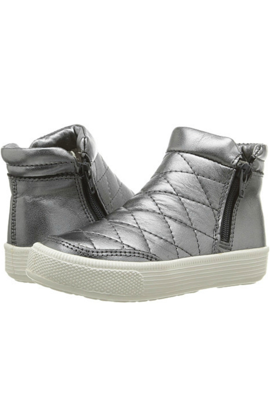 Zip Daley Silver Sneakers - R+D Hipster Emporium | Womens & Mens Clothing - 1