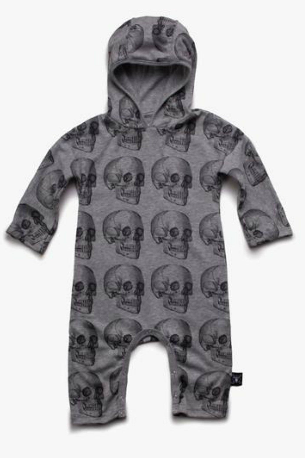 Nu Nu Nu- Skull Playsuit in Grey - R+D Hipster Emporium | Womens & Mens Clothing