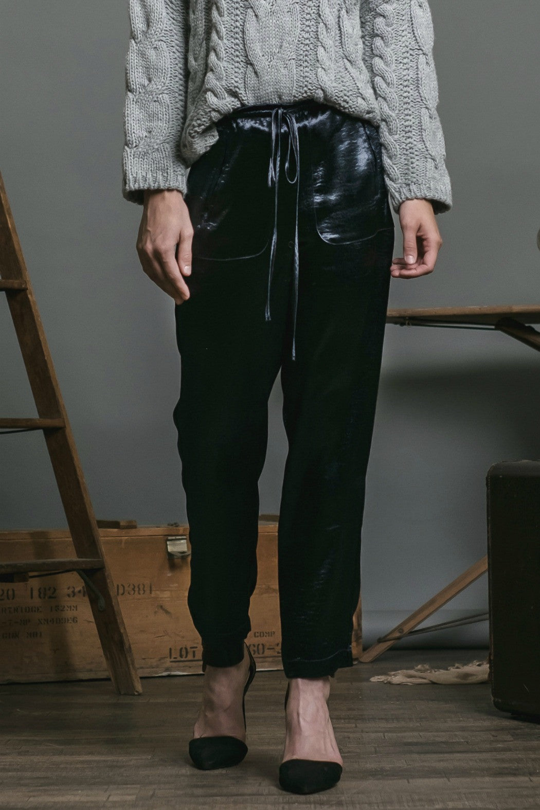 Satin Woven Pant - R+D Hipster Emporium | Womens & Mens Clothing - 1