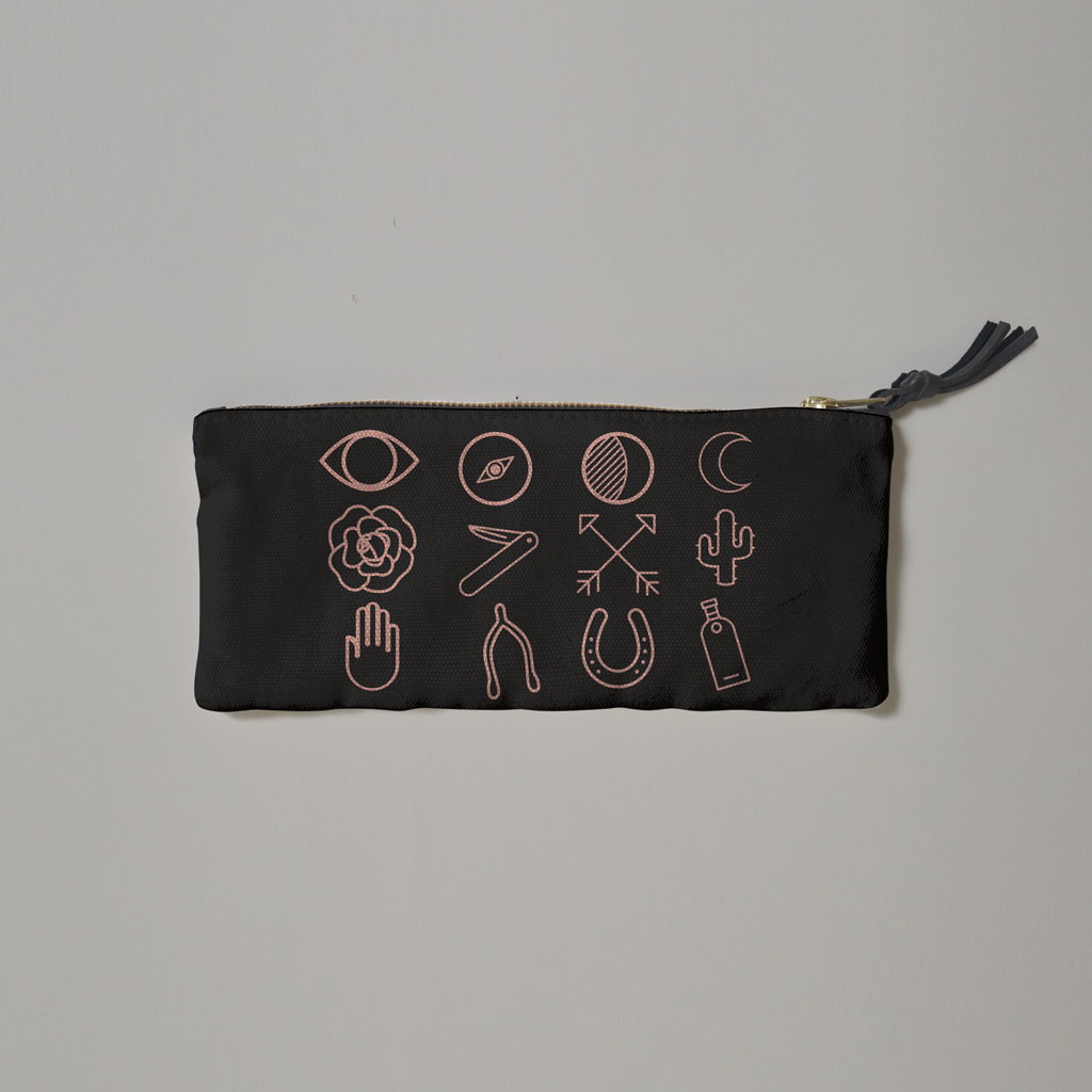 IMM Living -Graphic Symbols Pencil Case - R+D Hipster Emporium | Womens & Mens Clothing - 2