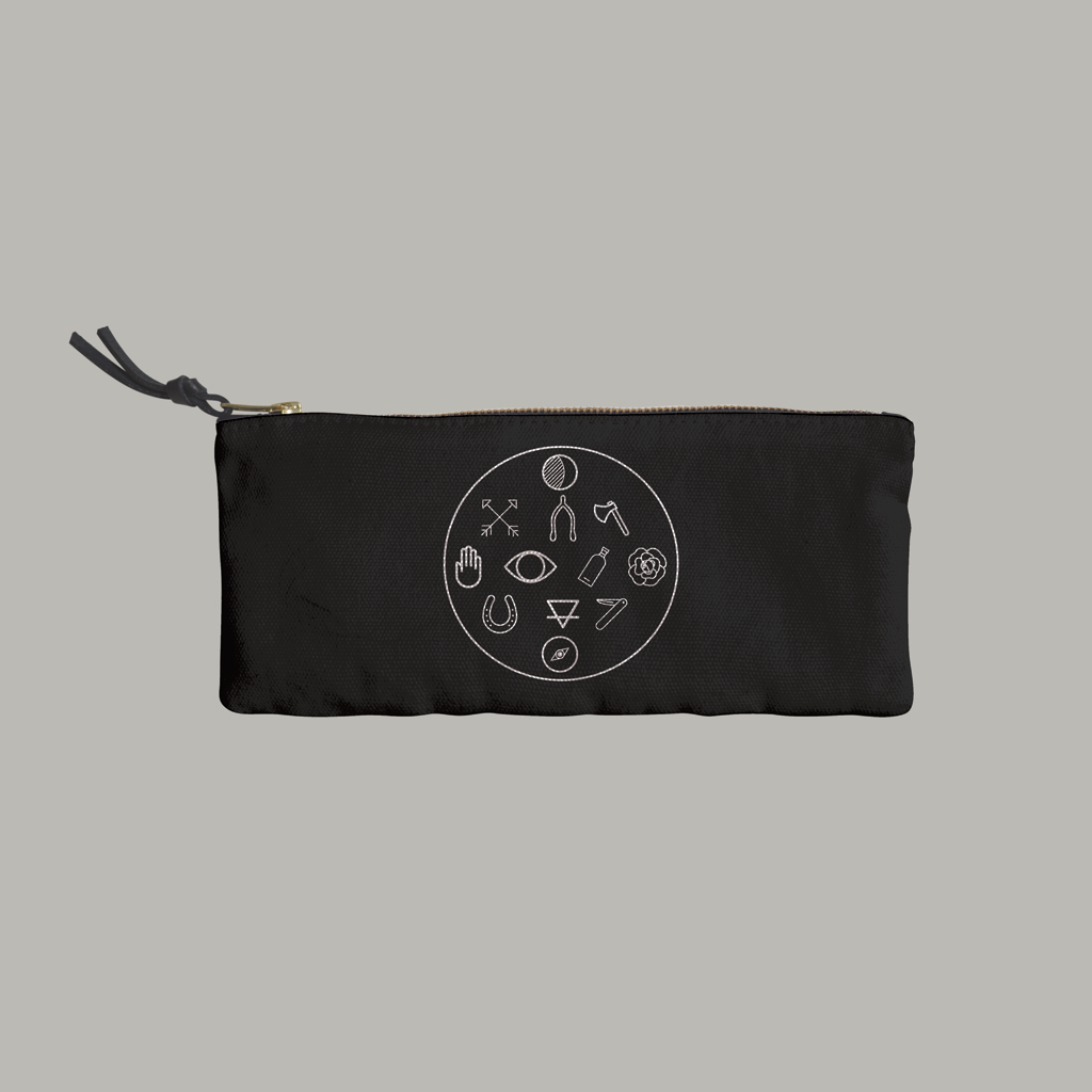 IMM Living -Graphic Symbols Pencil Case - R+D Hipster Emporium | Womens & Mens Clothing - 1