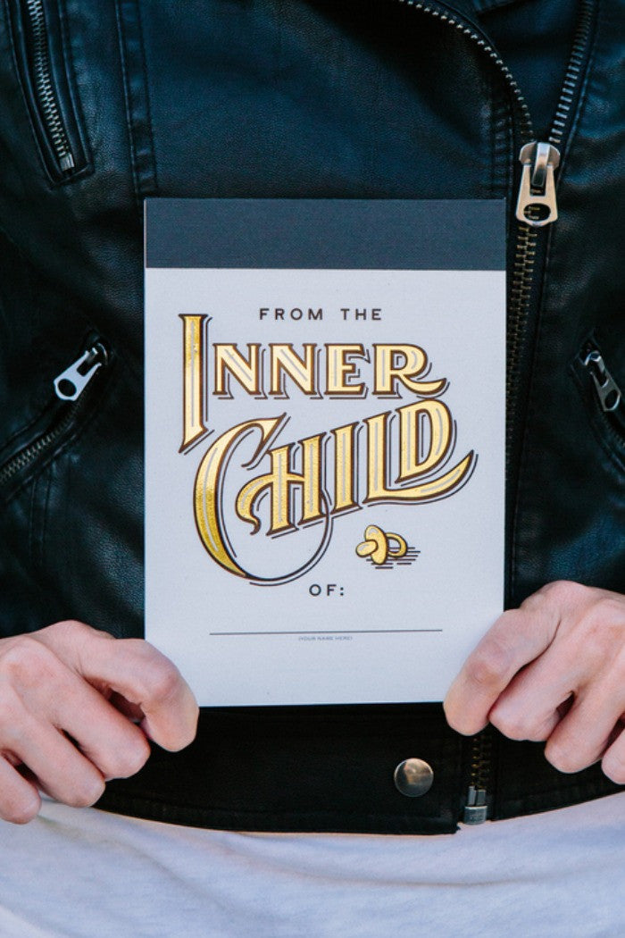 Knock Knock - Inner Child notepad - R+D Hipster Emporium | Womens & Mens Clothing - 3