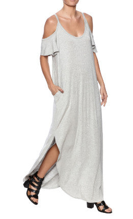 Sweet Pea - Cold Shoulder Maxi Dress - R+D Hipster Emporium | Womens & Mens Clothing - 1
