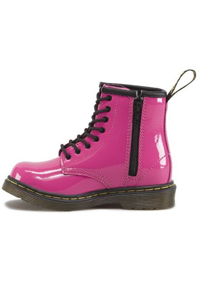 Dr. Martens - Brooklee Boot in Hot Pink Patent Lamper - R+D Hipster Emporium | Womens & Mens Clothing - 2