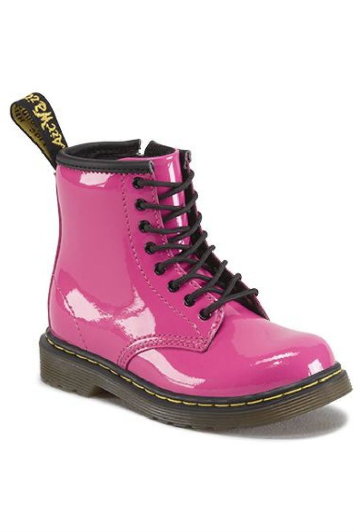 Dr. Martens - Brooklee Boot in Hot Pink Patent Lamper - R+D Hipster Emporium | Womens & Mens Clothing - 1