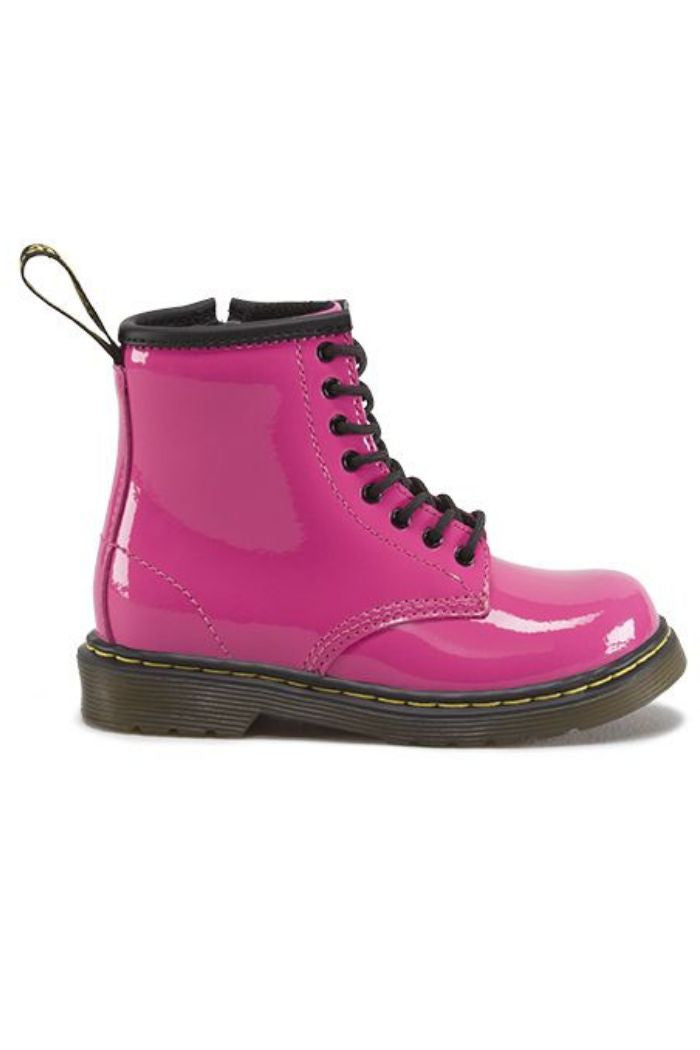 Dr. Martens - Brooklee Boot in Hot Pink Patent Lamper - R+D Hipster Emporium | Womens & Mens Clothing - 4