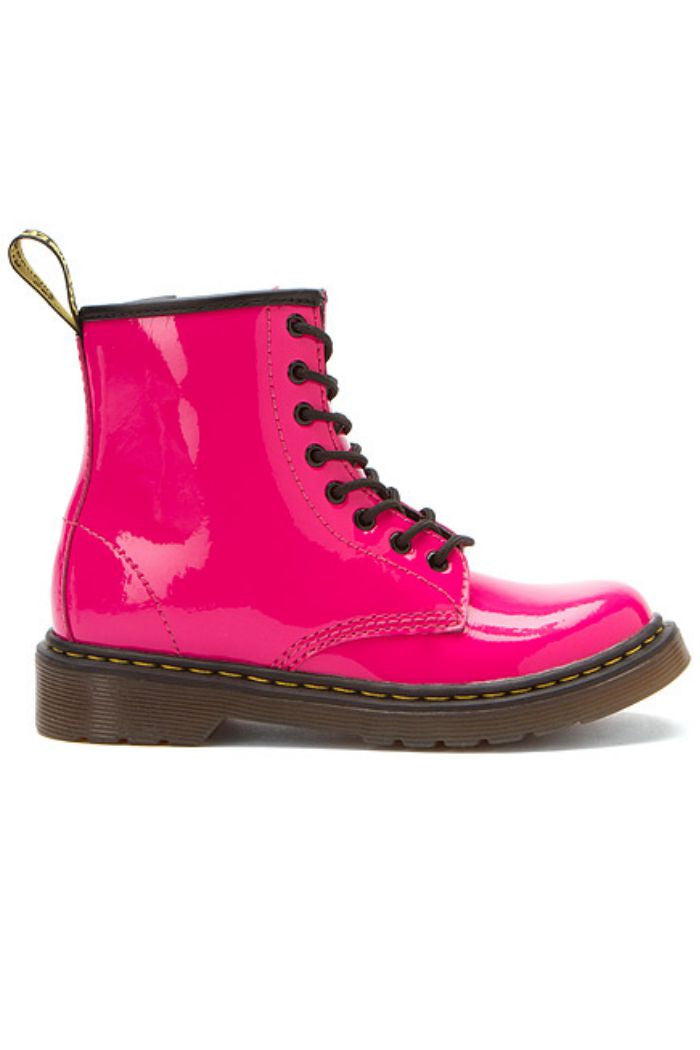 Dr. Martens - Girl's Delaney in Hot Pink Patent Lamper - R+D Hipster Emporium | Womens & Mens Clothing - 2