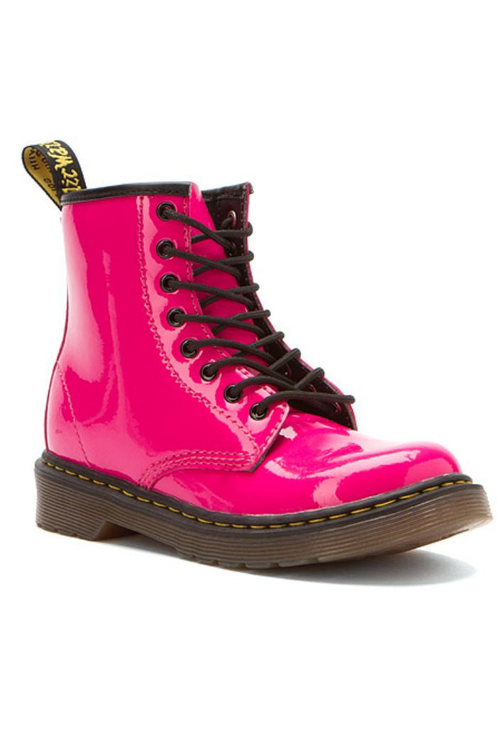 Dr. Martens - Girl's Delaney in Hot Pink Patent Lamper - R+D Hipster Emporium | Womens & Mens Clothing - 1