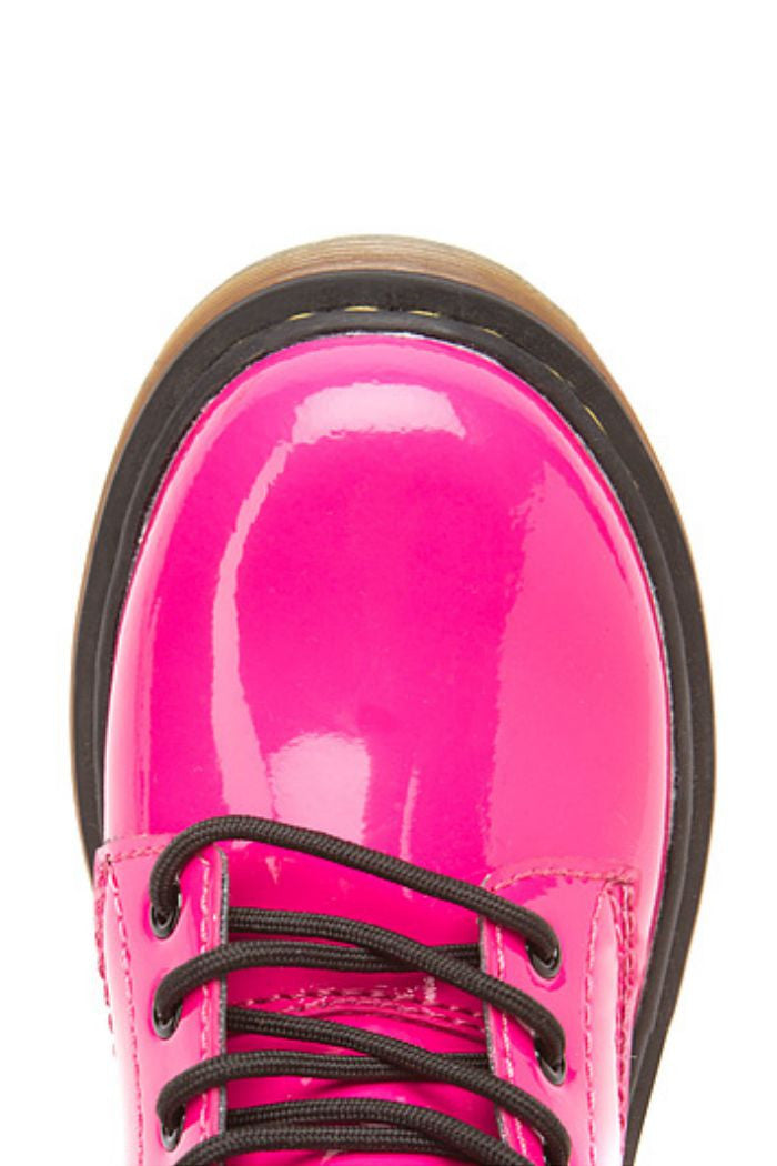 Dr. Martens - Girl's Delaney in Hot Pink Patent Lamper - R+D Hipster Emporium | Womens & Mens Clothing - 4
