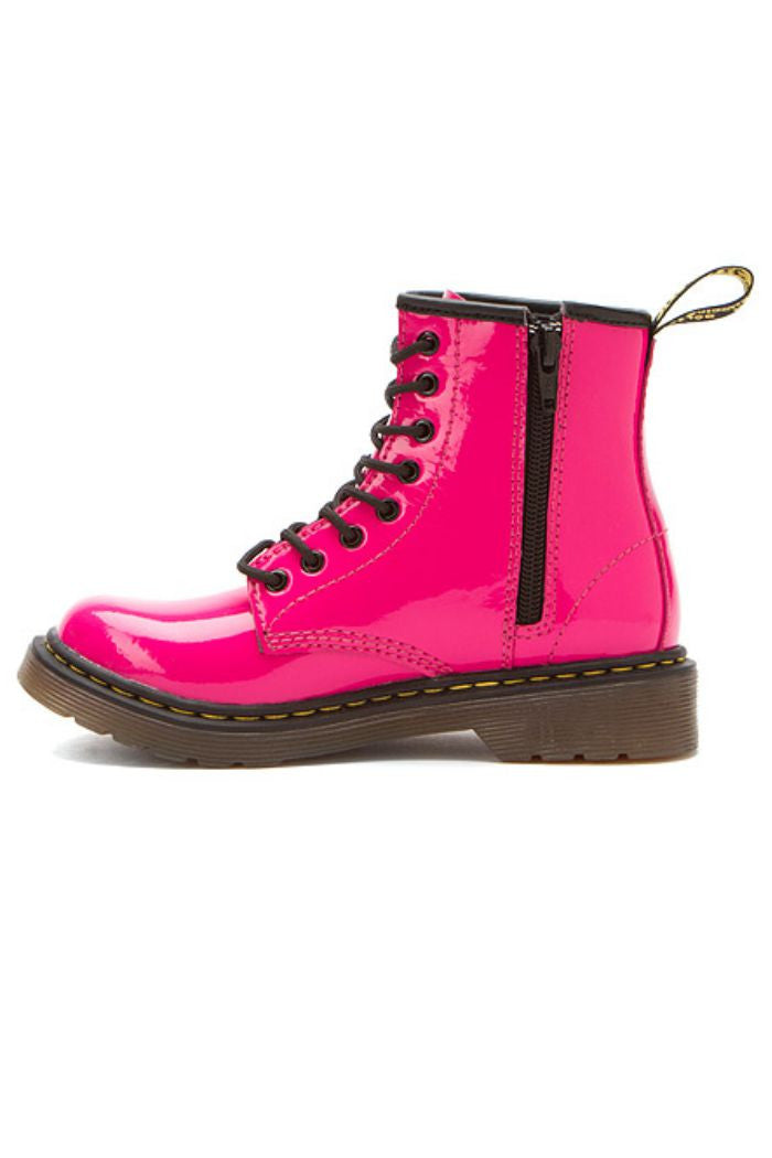 Dr. Martens - Girl's Delaney in Hot Pink Patent Lamper - R+D Hipster Emporium | Womens & Mens Clothing - 5
