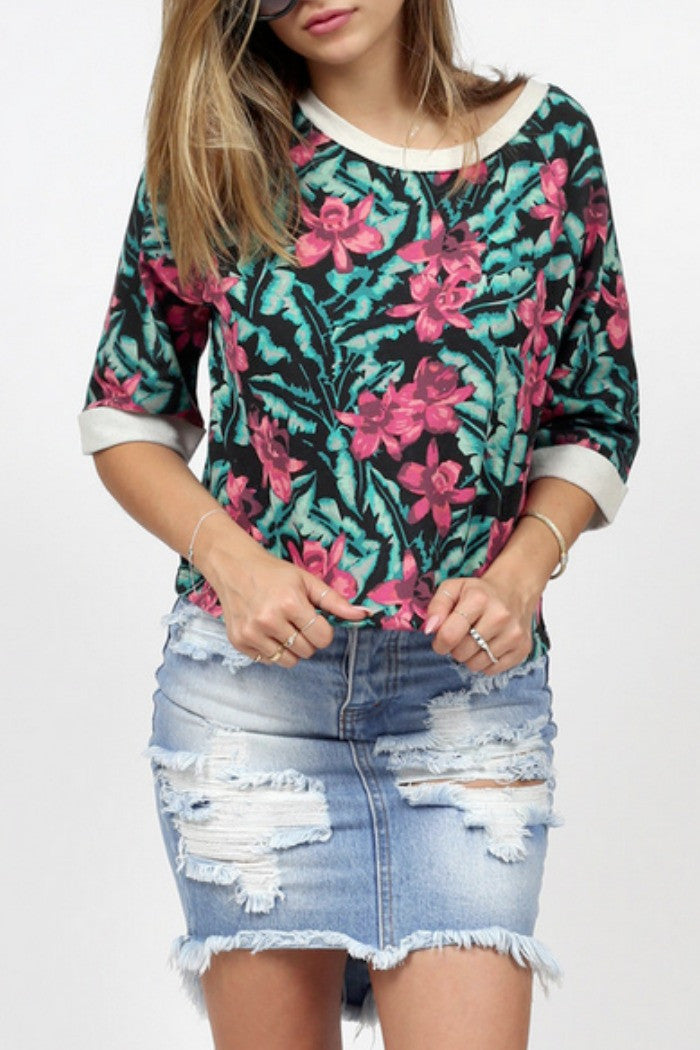 MINKPINK - Sundown Jungle Top in Multi - R+D Hipster Emporium | Womens & Mens Clothing - 1