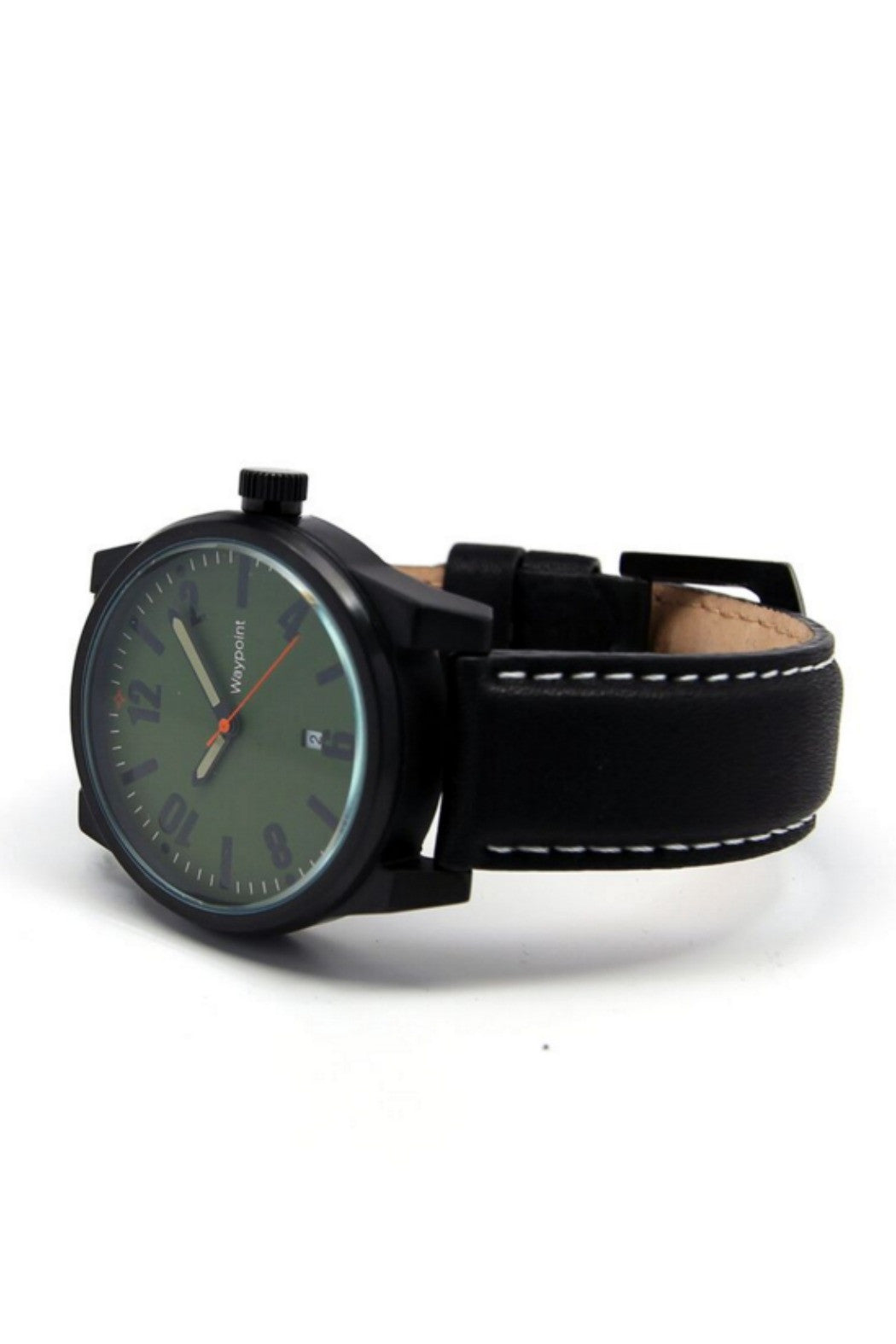 Waypoint Watches - Traveler Watch Forest Green on Black Leather - R+D Hipster Emporium | Womens & Mens Clothing - 3
