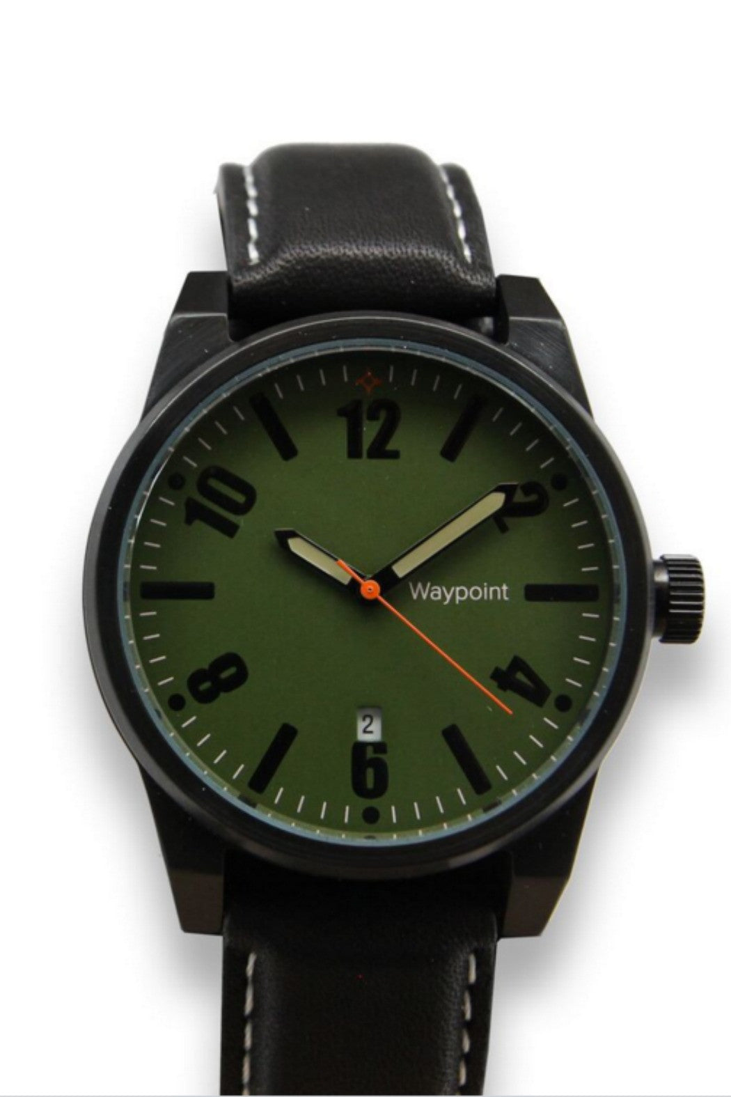 Waypoint Watches - Traveler Watch Forest Green on Black Leather - R+D Hipster Emporium | Womens & Mens Clothing - 2