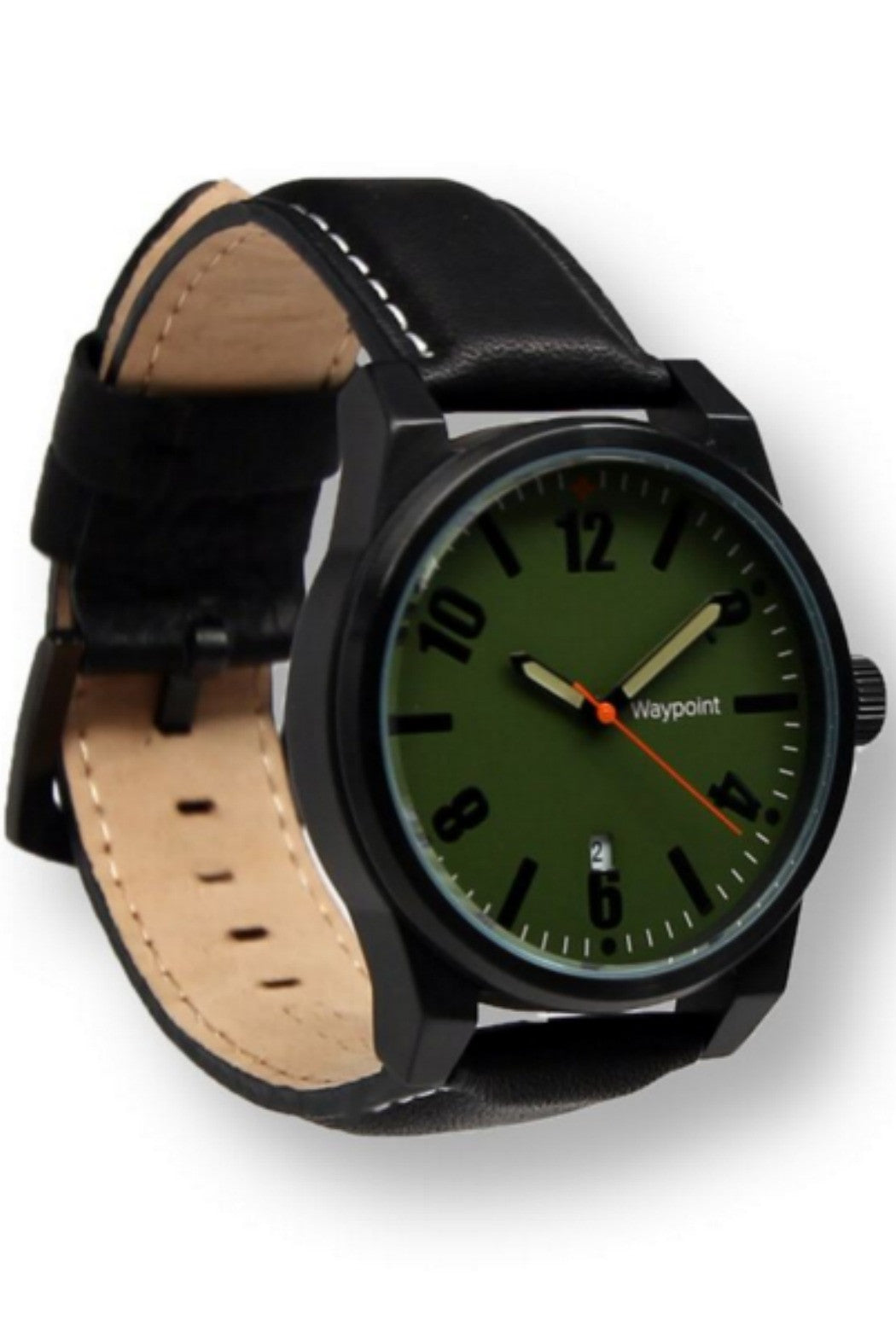 Waypoint Watches - Traveler Watch Forest Green on Black Leather - R+D Hipster Emporium | Womens & Mens Clothing - 1