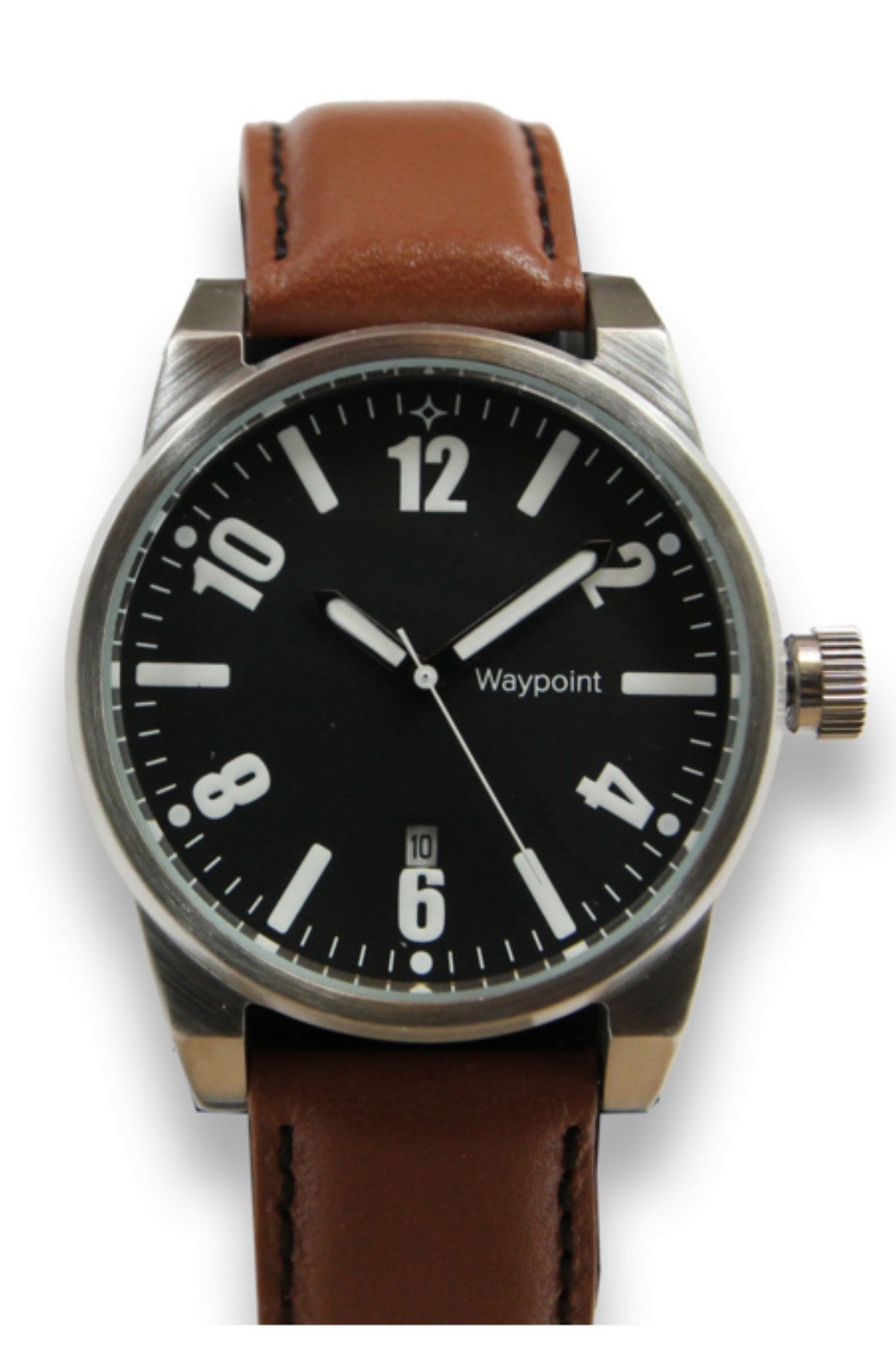 Waypoint Watches- Traveler Watch Classic with Black face and brown leather strap - R+D Hipster Emporium | Womens & Mens Clothing - 1