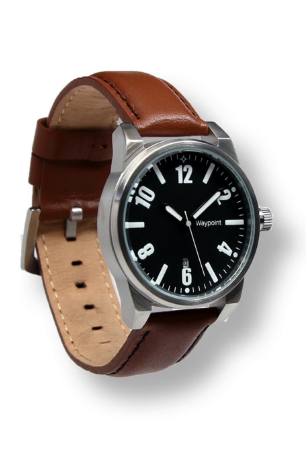 Waypoint Watches- Traveler Watch Classic with Black face and brown leather strap - R+D Hipster Emporium | Womens & Mens Clothing - 2