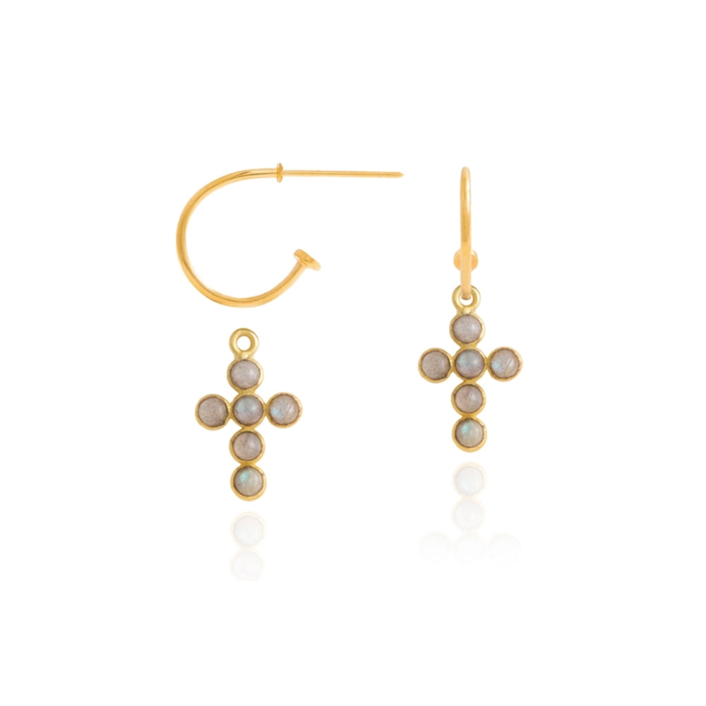 Pendientes de Aro con Cruz de Lavani Jewels