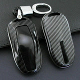 Carbon Fiber Style Key Case/Cover for Model Y - PimpMyEV