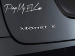 Tesla Model X Emblem Badges Letters (5 options) - PimpMyEV