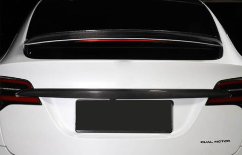 Genuine Carbon Fiber Trunk Tailgate Trim for Model X (Matte) - PimpMyEV