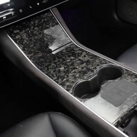 Genuine Forged Carbon Fiber Center Console Fascia Kit for Model 3 (Gloss) - PimpMyEV