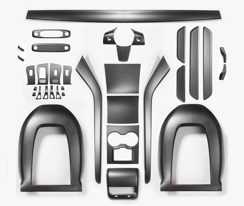 Ultimate Genuine Carbon Fiber Upgrade Kit For Model Y Matte (3 options) - PimpMyEV