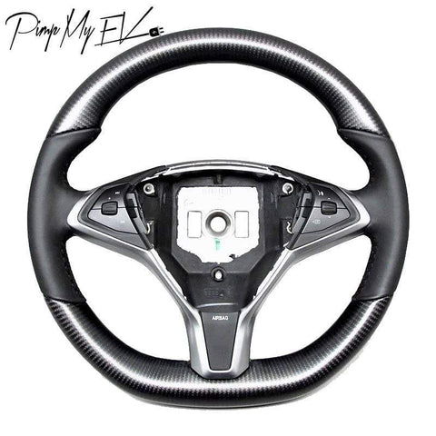 Custom Dry Carbon Fiber Steering Wheel Replacement for Model S & Model X (Various Options)