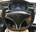 Custom Dry Carbon Fiber Steering Wheel Replacement for Model S & Model X (Various Options) - PimpMyEV