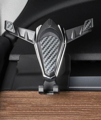 Carbon Fiber Style Mobile Phone Holder for Model Y (Left Hand Drive) - PimpMyEV