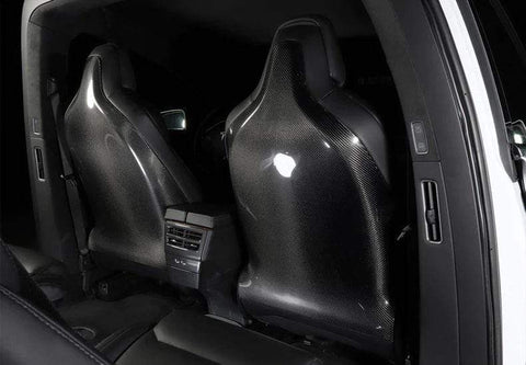 Genuine Carbon Fiber Seat Backs for Model X (Matte) - PimpMyEV