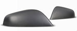 2PCs Genuine Carbon Fiber Side Mirror Covers for Model X (Matte) - PimpMyEV