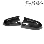 2PCs Genuine Carbon Fiber Winged Side Mirror Replacement Set for Model 3 - PimpMyEV