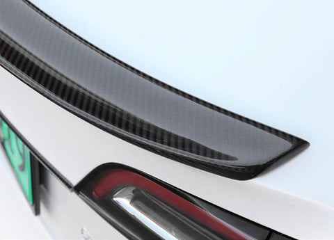Carbon Fiber Effect Wing Spoiler Raised Back for Model 3 (Gloss) - PimpMyEV