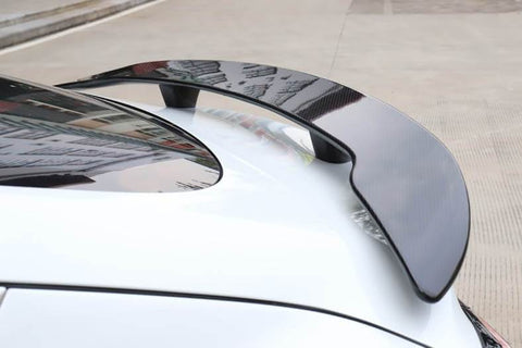 Genuine Carbon Fiber Extended Racing Wing Spoiler Model 3 (Gloss) - PimpMyEV