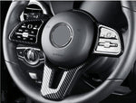 Carbon Fiber Style Steering Wheel Cover for Mercedes-Benz EQC - PimpMyEV