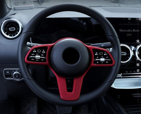 Gloss Red Steering Wheel Cover for Mercedes-Benz EQC - PimpMyEV