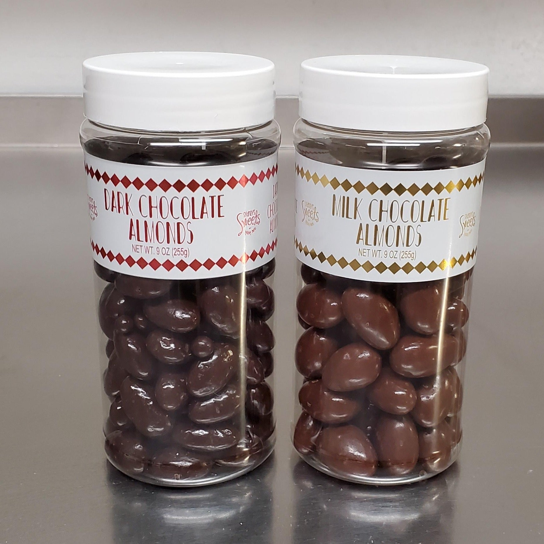 Delicious Chocolate Almonds in Medium Jar