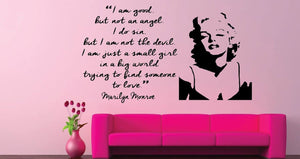 "Marilyn Monroe - ""I'm good, but not an angel"""