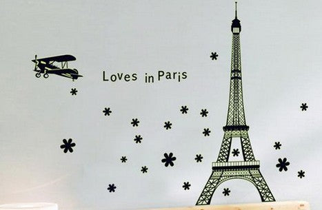 Selvlysende wallsticker - Paris