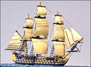 100 Gun Ship-of-the-line  (HMS Victory) - Full Sails