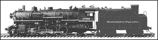 Northern Pacific W-3 Mikado w/ Oil Tender