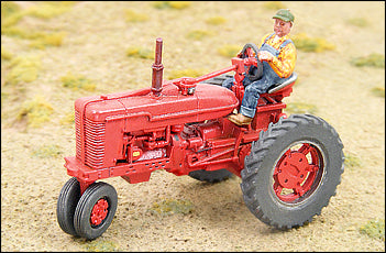 1950s Red Farm Tractor