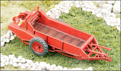 1950s Red Manure Spreader