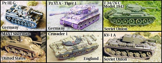 Main Tanks of WWII
