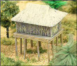 Grass Hut on Stilts