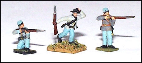 Skirmishers in Action Poses (CSA)