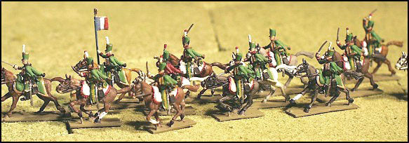 French Hussars - Ligne Companies, Charging