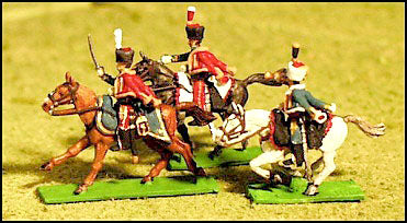 French Hussars - Elite Companies , Charging